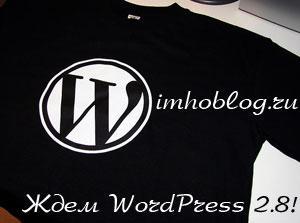 В Ожидании WordPress 2.8