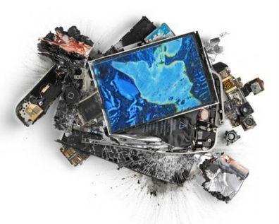 Разбитые гаджеты от Apple стали предметами искусства