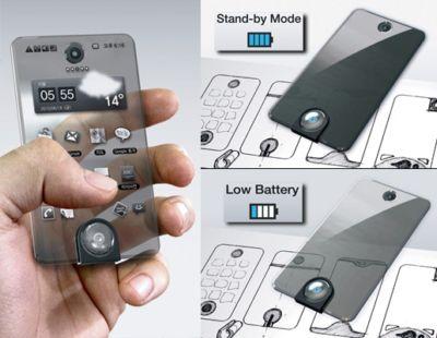 Прозрачный смартфон Second Life Mobile Phone Concept